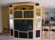 Evans Custom Millworks Entertainment Center